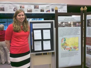 At the Push and Pull Exhibit Opening at Pender County Public Library, October 2014.