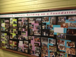"""""""Celebrating 30 Years: Building on a Foundation"""" -- 30th Anniversary Exhibit. Photo by author."""