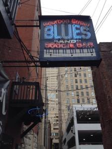 Boubon Street Blues and Boogie Bar - where we had a delicious lunch and heard some great live blues music. Photo by author.