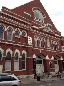 Ryman Auditorium, The Mother Church of Country Music, Nashville, NC. Photo by Author.