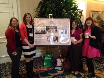 Jayd Buteaux, Beth Bullock (author), Caitlin Butler, and Bonnie Soper at the poster session at North Carolina Museums Council Annual Meeting, March 30, 2015, Durham, NC.