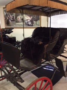 The surrey at the Country Doctor Museum that I am helping to conserve. Photo by author.
